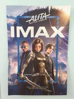 "Original ""Alita: Battle Angel"" IMAX movie poster with key chain"