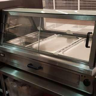 Stainless Steel Electrical display warmer