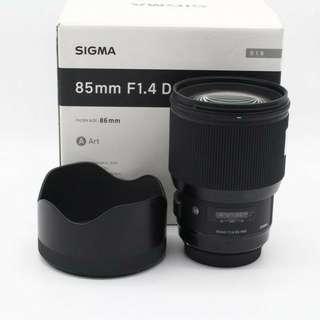 Sigma 85mm f/1.4 DG HSM ART(Nikon)Unregistered 2years Malaysia warranty