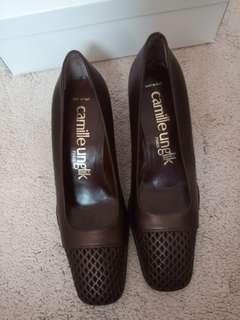 粗跟高跟鞋意大利製造