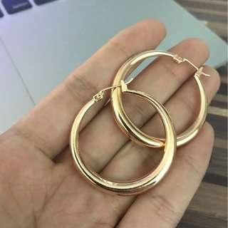 🚚 Brand new rose gold hoops
