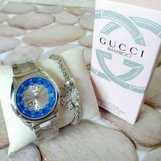 Gucci watch free necklace or perfume