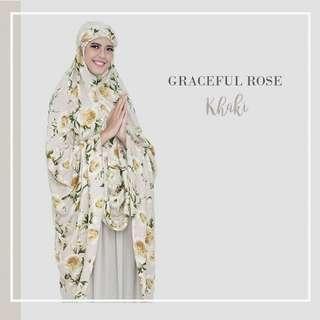 Mukena Graceful Rose (Khaki)