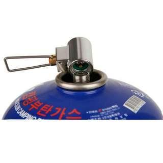 New! 全新 戶外 露營用高山氣 排氣/充氣閥 gas exchange/ refill valve 連轉換頭 (adapter)套裝 camping hiking outdoors