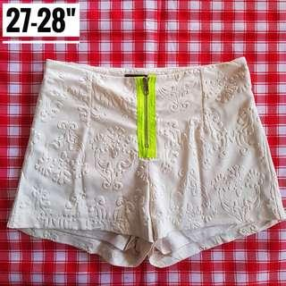 "27-28"" White Highwaist Shorts"