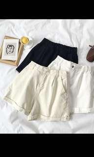 Light apricot shorts (elastic band)
