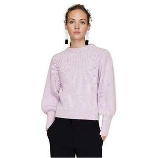 Mango Cable Knit Arce Sweater in Mauve