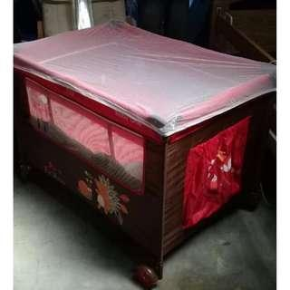 Like new Baby One Playpen with Mosquito Net
