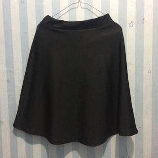 Black Skirt Midi Scuba