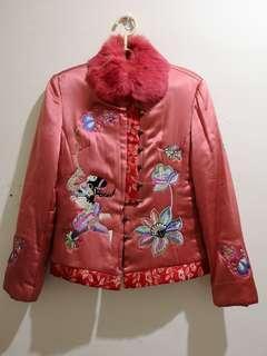 🚚 中國風珊瑚紅棉襖