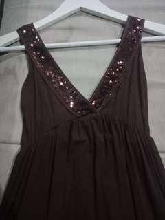 Dress sequin dark brown