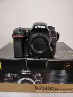 Nikon D7500 Body SC 2K only ,under warranty 1 year plus