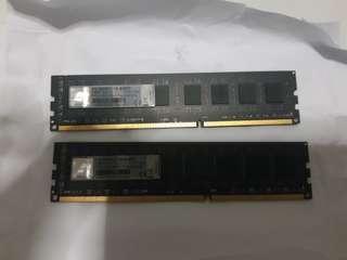 2pcs x8gb desktop DDR3 ram