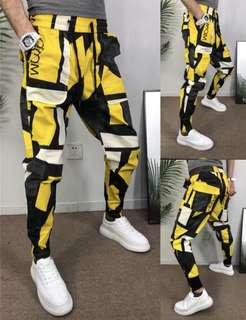 🚚 Yellow/Red Designed Streetstyle Joggers