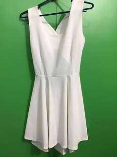 White Dress Backless