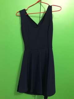 Navy Dress Backless