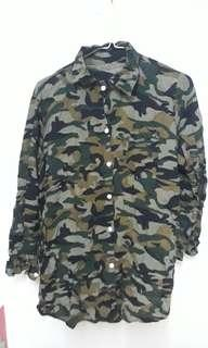 Camouflage Summer Button Up Shirt