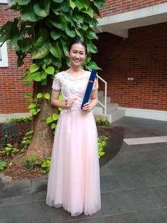 Dress Panjang / Gaun Pink