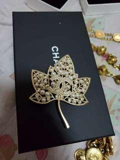 Authentic Chanel Leaf Brooch 2018 model