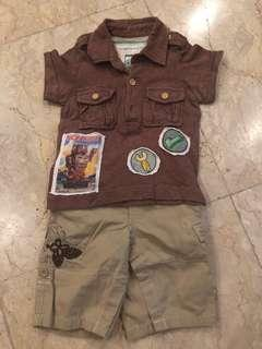 Gingersnaps shirt and Authentic Old Navy pants