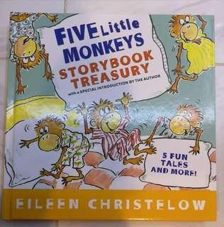 Five little monkeys Storybook Treasury eileen christelow 英文故事書 children books