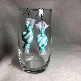 🚚 Green Candy Sweet Earrings