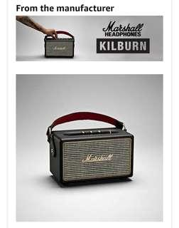 Brand new sealed Marshall Kilburn portable Bluetooth speaker not bose jbl ue boom