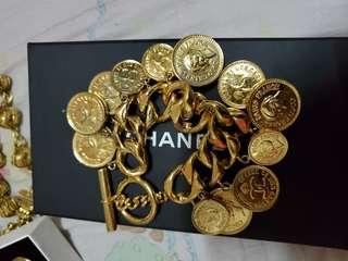 SALE! Authentic Chanel Coin Charms Vintage bracelet from 35k