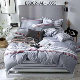 [1053] 3/4pcs Cotton BedSheet AB [Single/Super Single/Queen/King/Super King] #BS062 #ezwayenterprise #FreeWMPosatge #Ezbedsheet
