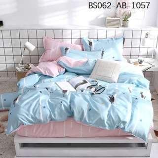 [1057] 3/4pcs Cotton BedSheet AB [Single/Super Single/Queen/King/Super King] #BS062 #ezwayenterprise #FreeWMPosatge #Ezbedsheet