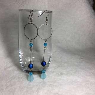 🚚 Blue Waterfall Earrings