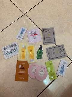 Free sample etude, skinfood, naked, dsb