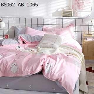[1065] 3/4pcs Cotton BedSheet AB [Single/Super Single/Queen/King/Super King] #BS062 #ezwayenterprise #FreeWMPosatge #Ezbedsheet