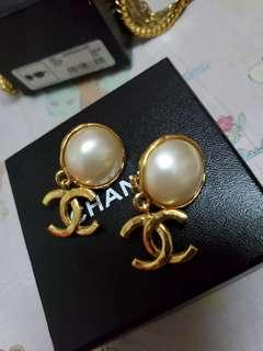 SALE! Authentic Vintage Chanel Pearl Drop Earrings from 24k