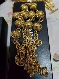 SALE!Authentic Chanel Vintage etruscan ball necklace from 48k