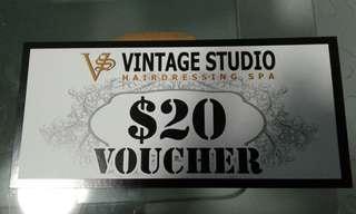 🚚 Vintage Studio Hairdressing SPA voucher