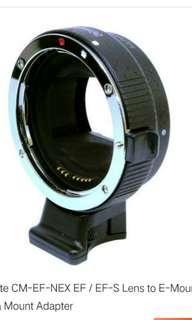 🚚 Commlite CM-EF-NEX EF/EF-S Cannon lens to E-mount SONY NEX series camera body