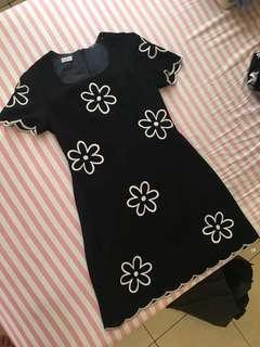 Flower Dress Black ( PREMIUM COLLECTION )