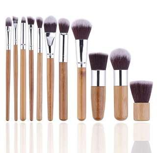 [READYSTOCK & POSTAGE INCLUDED] 11 Face & Eye Bamboo Brush