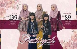 [ Muslimah Two-Piece ] Fathiyah Lace Kurung