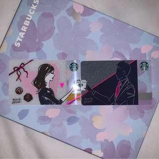 2019 Japan Starbucks Valentine's Day cards (Pair)