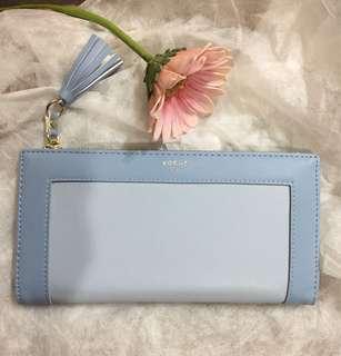 淺藍色錢包/長夾/手拿包/鈔票夾