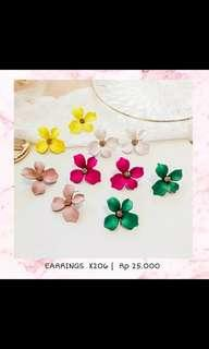 Anting Bunga import 25rb