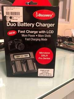 🚚 Duo Battery Charger for LP E 6