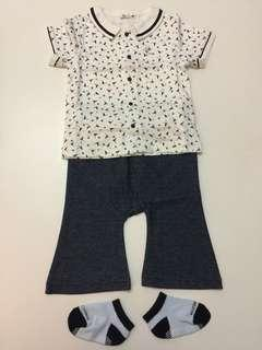 組曲 KUMIKYOKU Japanese brand Boy Polo shirt Pants Socks Baby Gift 全新 男童 Polo衫 褲仔 襪子 日本品牌