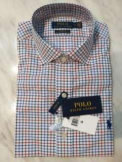 NWT polo Ralph Lauren dress shirt classic M check poplin