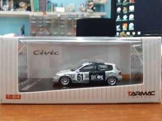Tarmac Works 1:64 Honda Civic EG6 Gr.N #61  Team TAKE ONE