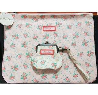 ☆ Brand New Genuine Ashlyn Ann Set☆ Document Bag+ Rose Garden Coin Purse ☆