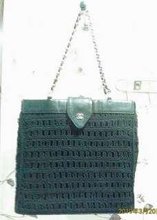 🚚 Chanel 香奈兒 銀鍊 真皮編織包