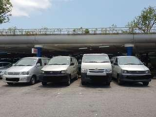 Hiace rental and sale